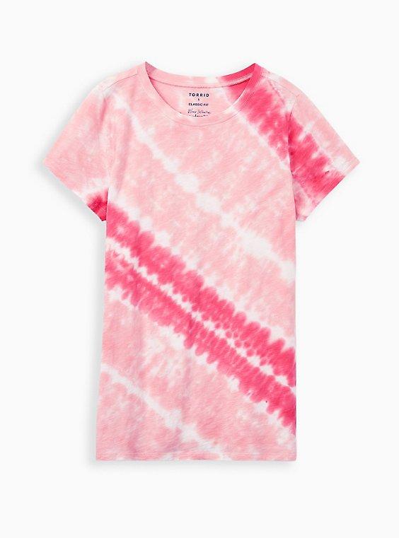 Tie Dye Tunic Ice Dyed Tie Dye Concentric Circles Design Tunic Raspberry in U.S Women/'s S M L XL 2X 3X Plus Sizes