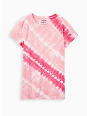 Classic Fit Tunic Tee - Heritage Slub Tie-Dye Raspberry Pink, OTHER PRINTS, hi-res