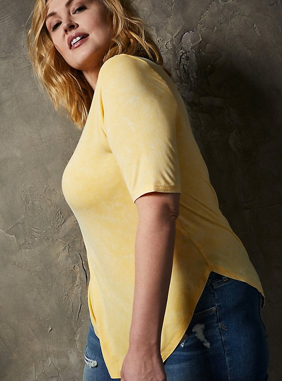 Favorite Tunic - Super Soft Mineral Wash Yellow, SUNDRESS, hi-res