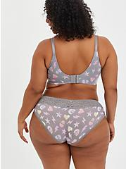 Lightly Lined Wire-Free Bra - Grey Skull Abstract with 360° Back Smoothing™ , ABSTRACT TOSS GREY, alternate