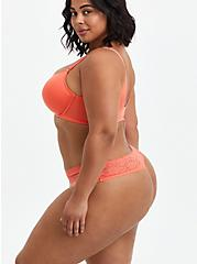 Lightly Lined Front Closure T-Shirt Bra - Coral with 360° Back Smoothing™, LIVING CORAL, alternate