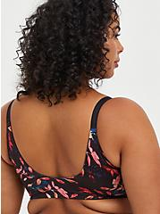 Plus Size Lightly Lined Front Closure T-Shirt Bra - 360° Back Smoothing™ Floral Leaves , LEAVES - MULTI, alternate