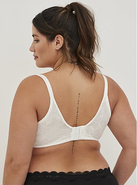 Push-Up T-Shirt Bra - Lace White with 360° Back Smoothing™, CLOUD DANCER, alternate
