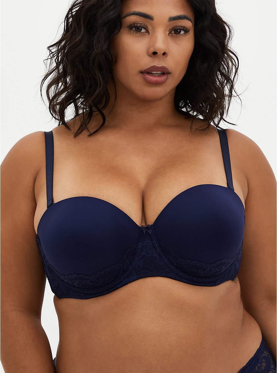 Push-Up Multiway Strapless Bra - Navy, , fitModel1-hires
