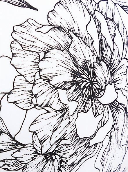360° Back SmoothingTM Full Coverage Balconette Bra - Floral Black & White , SKETCHBOOK FLORAL WHITE, alternate