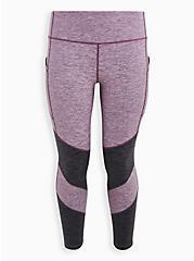 Purple Spacedye Brush Wicking Active Legging, GRAY MIST, hi-res