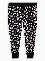 Black & White Skull Sleep Legging, MULTI, hi-res