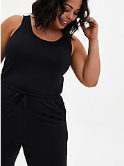 Classic Fit Sleep Jumpsuit - Micro Modal Black, DEEP BLACK, alternate