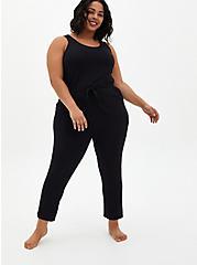 Classic Fit Sleep Jumpsuit - Micro Modal Black, DEEP BLACK, hi-res