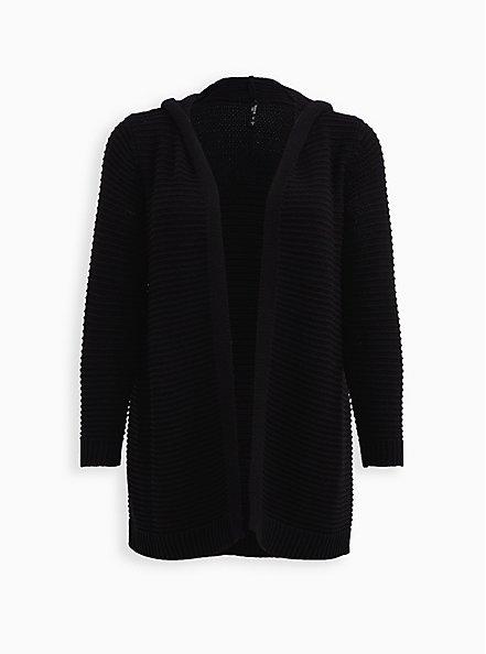 Black Sleep Cardigan, DEEP BLACK, hi-res