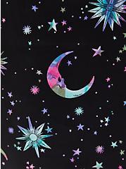 Black Celestial Stretch Satin Sleep Dress, MULTI, alternate