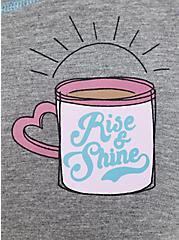 Super Soft Heather Grey Coffee Sleep Tee, GREY, alternate