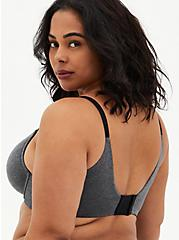 Heather Charcoal Grey 360° Back Smoothing™ XO Push-Up Plunge Bra , HEATHER  CHARCOAL, alternate