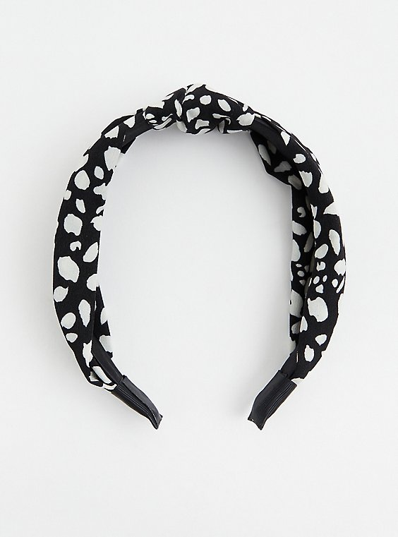 Black & White Knot Headband, , hi-res