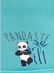 Turquoise Pandaste Seamless Boyshort Panty, PANDASTE, alternate