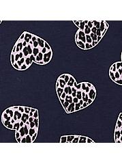 Navy Animal Hearts Wide Lace Cotton Cheeky Panty , ANIMAL HEARTS, alternate