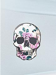 Light Blue Skull Seamless Cheeky Panty, ROSE SKULLS, alternate