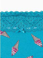 Teal Ice Cream Cones Lace Cotton Cheeky Panty , CHILLIN ICE CREAM, alternate