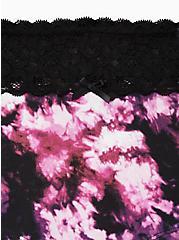 Black Tie-Dye Wide Lace Cotton Boyshort Panty, TIGER DYE, alternate