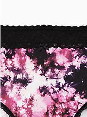 Black Tie-Dye Wide Lace Cotton High Waist Panty, TIGER DYE, alternate
