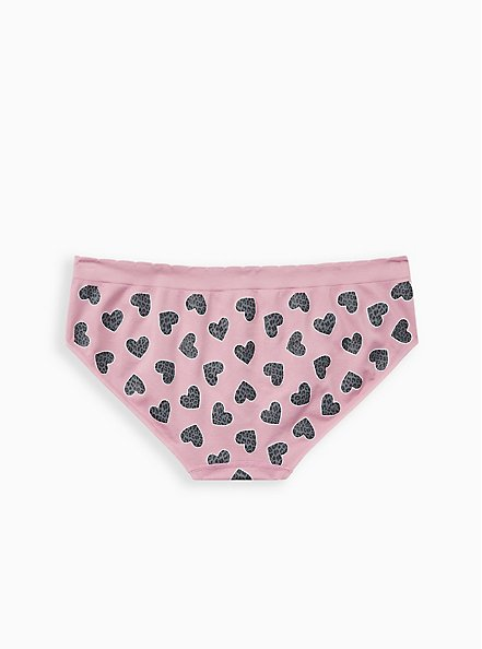 Orchid Pink Animal Hearts Seamless Hipster Panty , , alternate