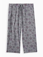 Light Heather Grey Stars Micro Modal Terry Sleep Pant, MULTI, hi-res