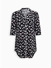 Super Soft Black Skull Sleep Dress, MULTI, hi-res