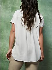 White Challis Dolman Blouse , CLOUD DANCER, alternate