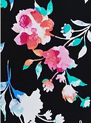Black Floral Active Swim Rashguard, , fitModel1-alternate