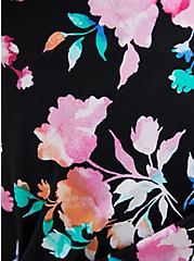 Floral Asymmetrical Skirt Swim Bottom, MULTI, alternate