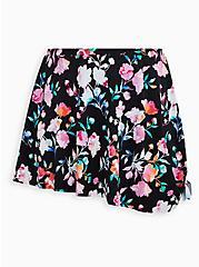 Floral Asymmetrical Skirt Swim Bottom, MULTI, hi-res