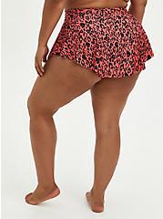 Coral Leopard High Low Swim Skirt, MULTI, alternate