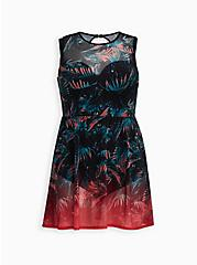 Palm Peplum Underwire Swim Dress, MULTI, hi-res