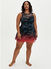 Palm Peplum Underwire Swim Dress, , fitModel1-alternate