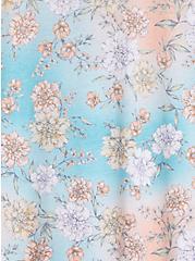 Vintage Tee - Triblend Jersey Floral Teal , OTHER PRINTS, alternate