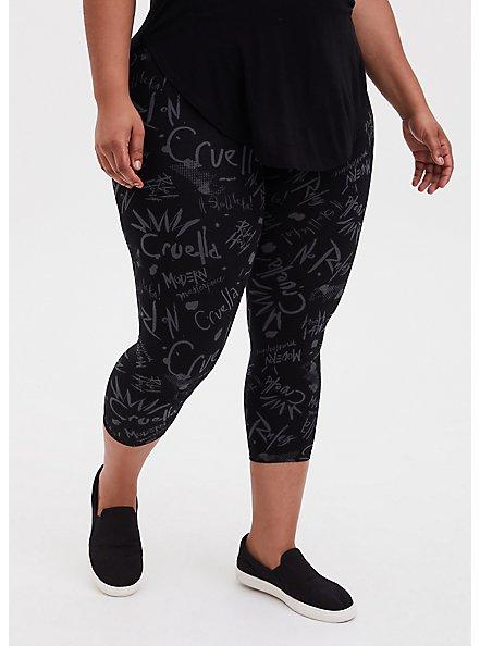 Disney Cruella Crop Legging , DEEP BLACK, alternate