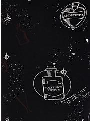 Harry Potter Potion Bottles Biker Short, DEEP BLACK, alternate