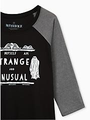 Beetle Juice Strange & Unusual Classic Fit Raglan Tee - Black, DEEP BLACK, alternate