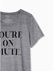 You're On Mute Slim Fit Crew Tee - Triblend Grey, MEDIUM HEATHER GREY, alternate