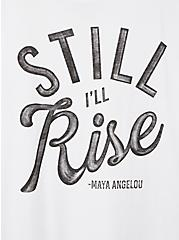 #TorridStrong Slim Fit Tee - Maya Angelou White, BRIGHT WHITE, alternate