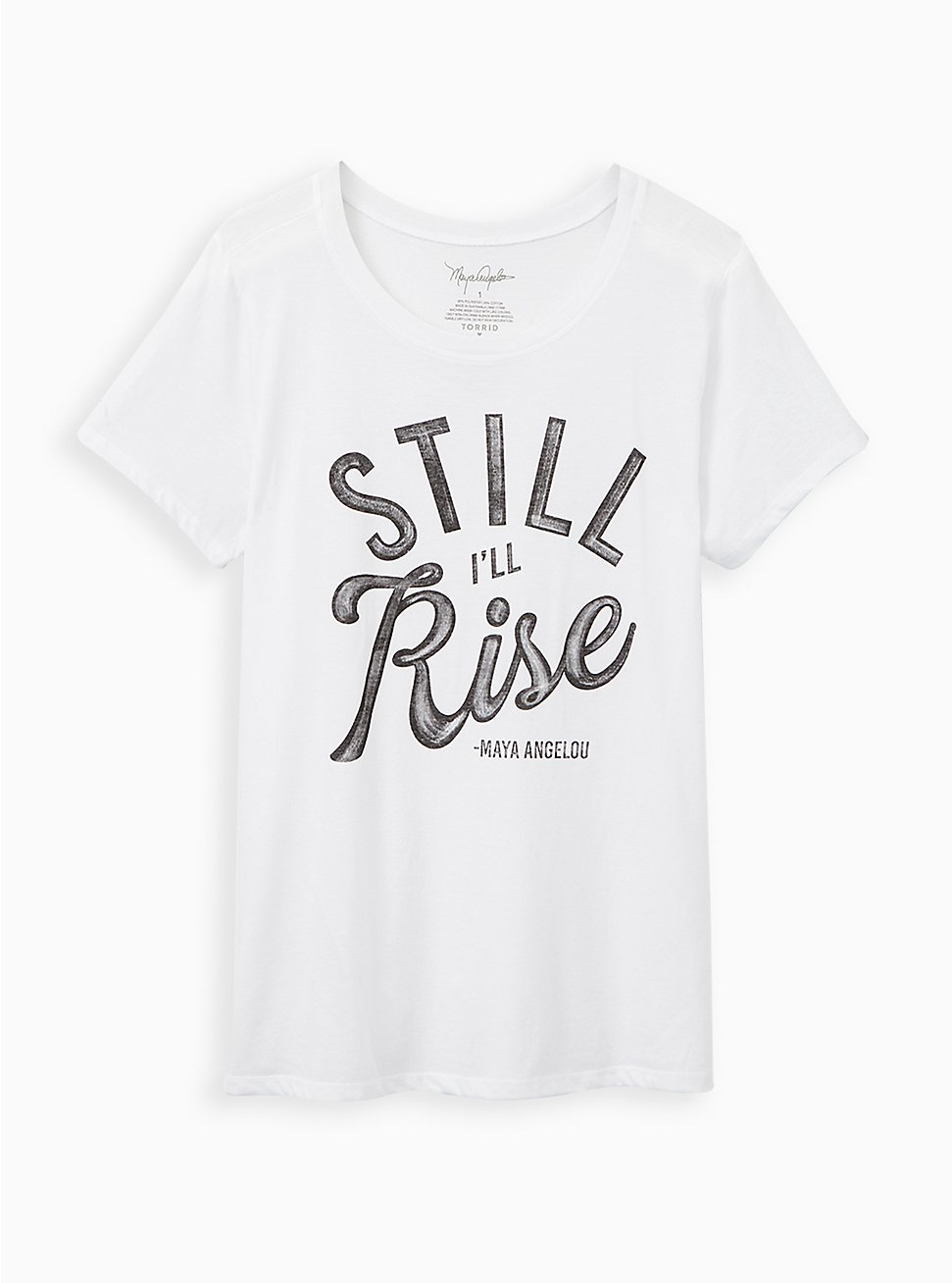 #TorridStrong Slim Fit Tee - Maya Angelou White, BRIGHT WHITE, hi-res
