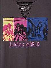 Jurassic World Raptor Grey Lattice Long Sleeve Top , NINE IRON, alternate