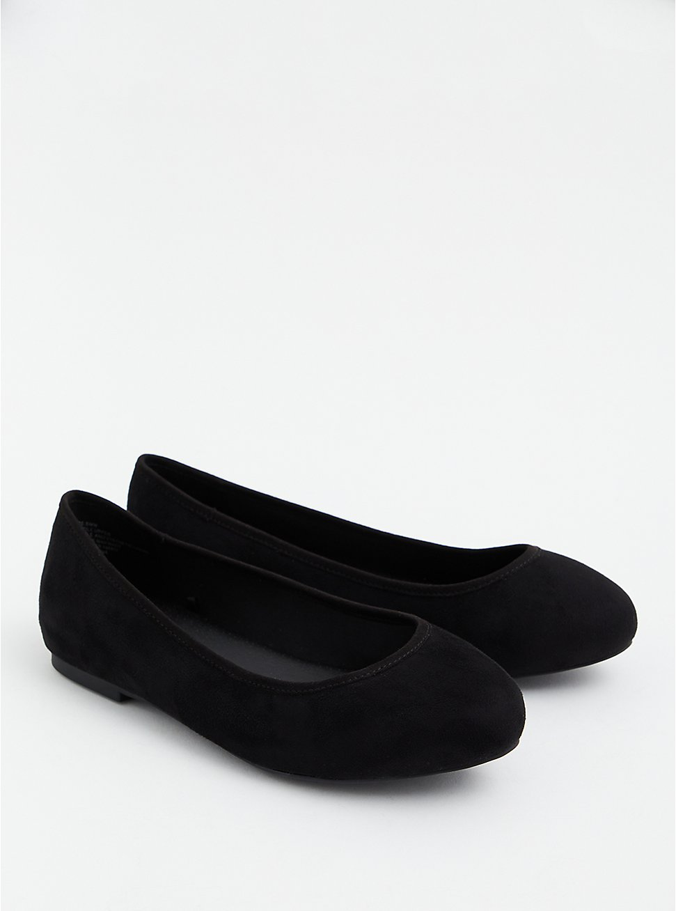Black Faux Suede Ballet Flat (WW), BLACK, hi-res