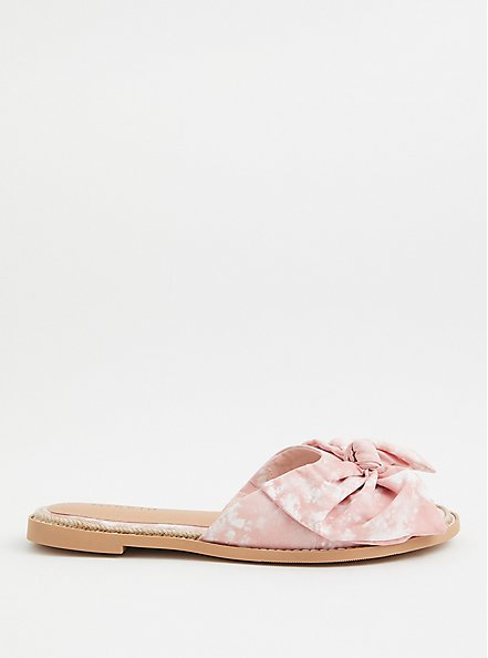 Blush Pink Tie Dye Espadrille Slide Sandal (WW), BLUSH, alternate