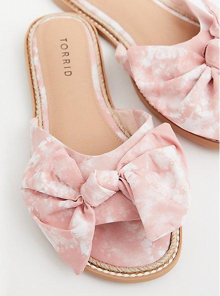Blush Pink Tie Dye Espadrille Slide Sandal (WW), BLUSH, hi-res