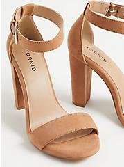 Staci - Light Brown Faux Suede Tapered Heel (WW), BROWN, alternate