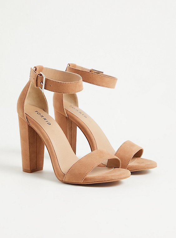 Staci - Light Brown Faux Suede Tapered Heel (WW), , hi-res