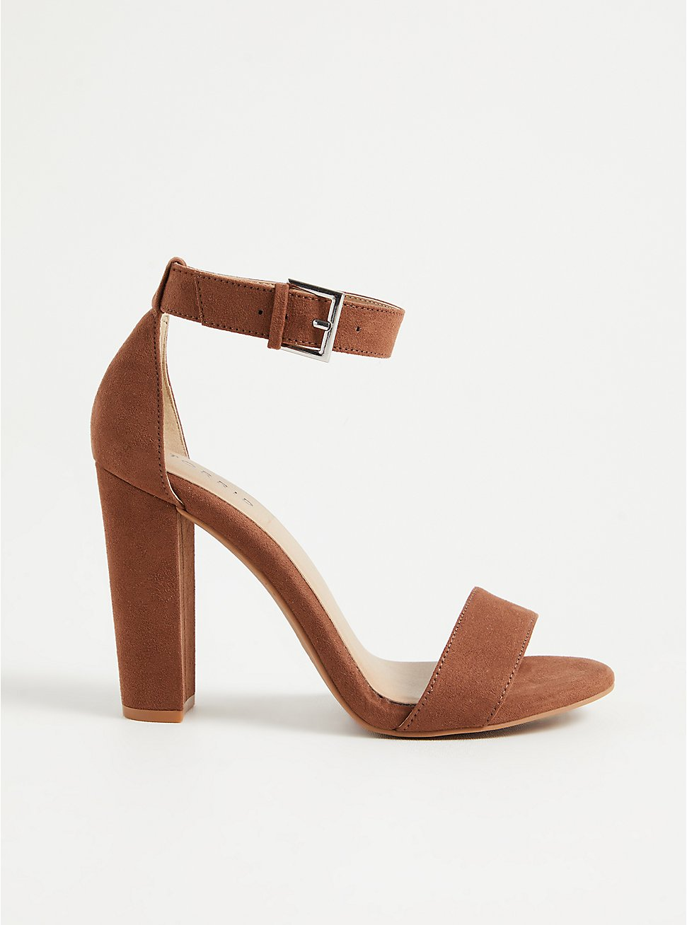 Staci - Brown Faux Suede Tapered Heel (WW), BROWN, hi-res