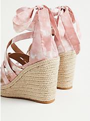 Blush Tie-Dye Ankle Wrap Espadrille Wedge (WW), BLUSH, alternate
