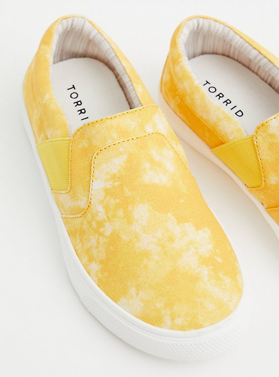 Mustard Tie-Dye Canvas Slip-On Sneaker (WW), TIE DYE, hi-res